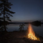 Campfire on Lake Temagami
